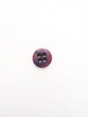Пуговица пластик круглая плоская на четыре прокола с окантовкой фиолетовый (p0758) - Фото 16