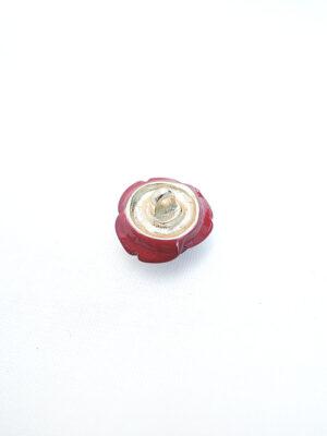 Пуговица металл эмаль на ножке цветок роза винный цвет (p0765) - Фото 14