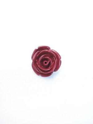 Пуговица металл эмаль на ножке цветок роза винный цвет (p0765) - Фото 13