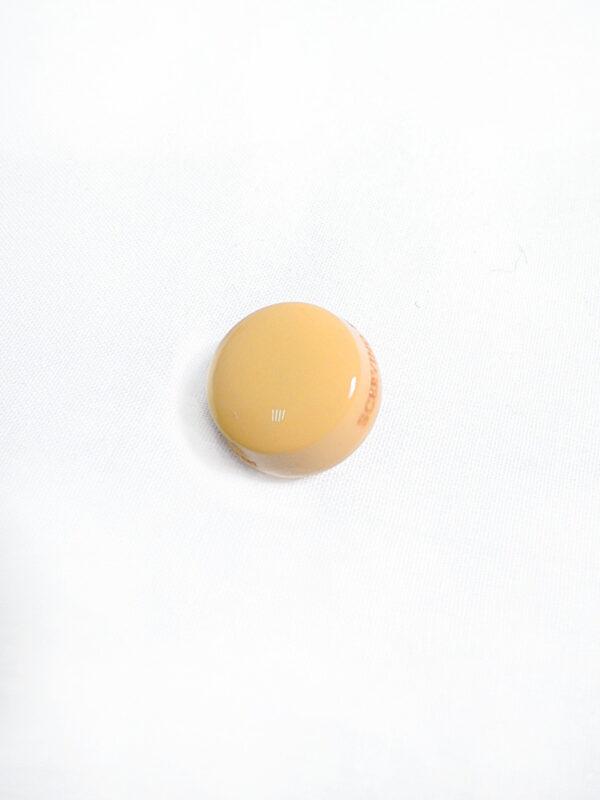 Пуговица круглая на ножке пластик глянцевая цвет желтый (p0780) к1 - Фото 6