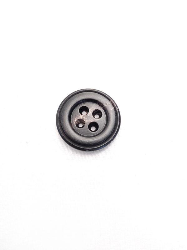 Пуговица круглая пластик на четыре прокола цвет темно-коричневый с разводами (p0792) к21 - Фото 6