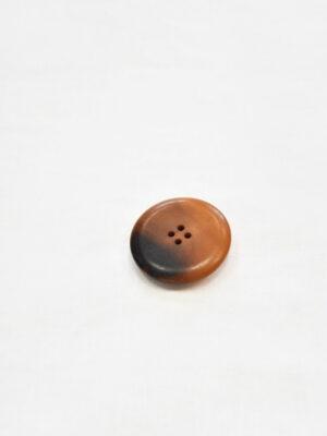 Пуговица пластик большая выпуклая светло-коричневый оттенок с черным (p0826) - Фото 10