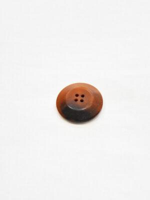 Пуговица пластик большая выпуклая светло-коричневый оттенок с черным (p0826) - Фото 9