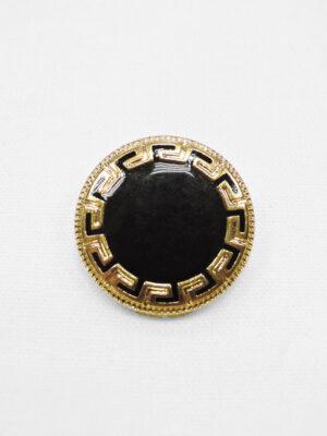 Пуговица металл золото черная эмаль орнамент дриады (p0932) - Фото 10