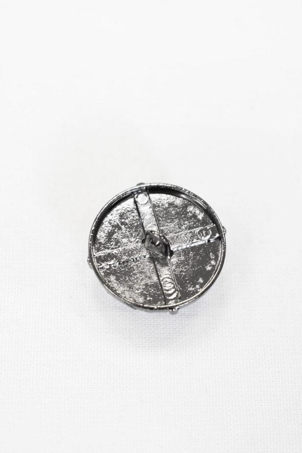 Пуговицы металл блэк никель с жемчужиной в оправе (p1030) к5 - Фото 7