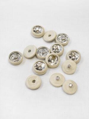 Кнопки пришивные металлические обтянутые светло-бежевой тканью (р1130) - Фото 11