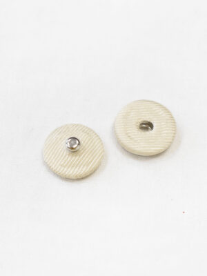 Кнопки пришивные металлические обтянутые светло-бежевой тканью (р1130) - Фото 10