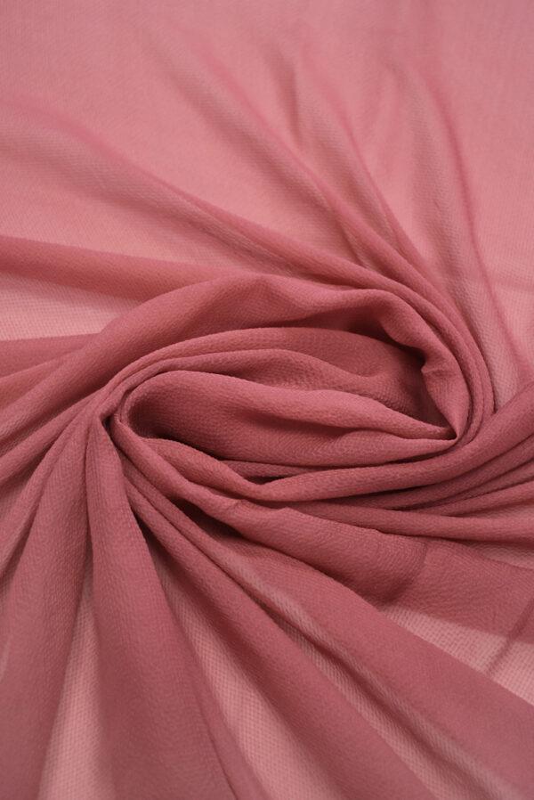 Шифон шелк креш пыльная роза (1225) - Фото 8