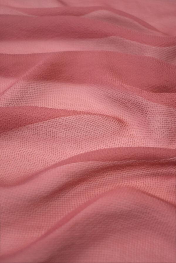 Шифон шелк креш пыльная роза (1225) - Фото 6