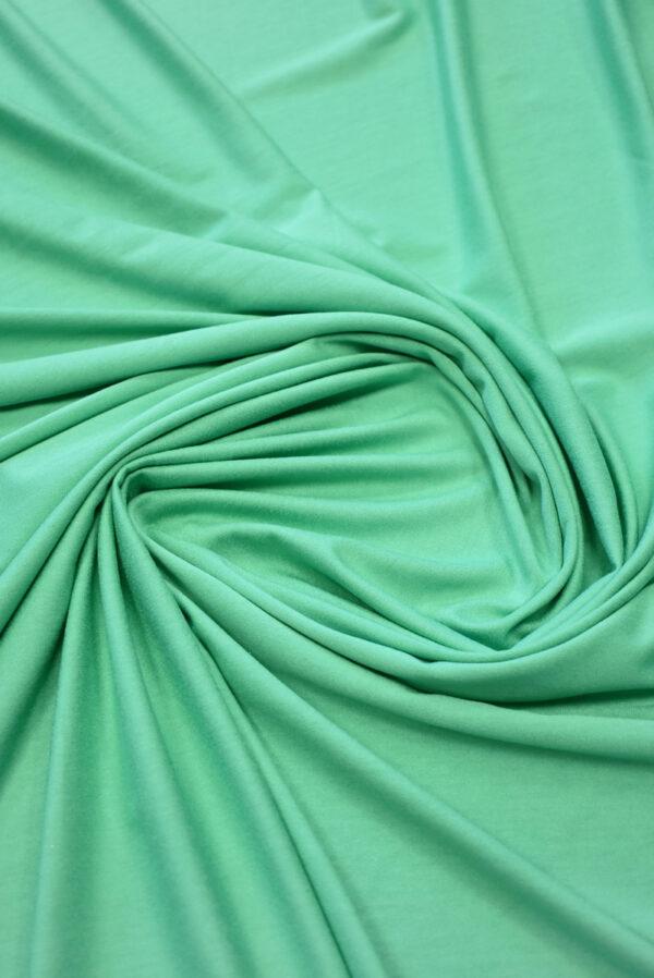 Трикотаж вискоза бирюзовый-зеленый (2261) - Фото 7