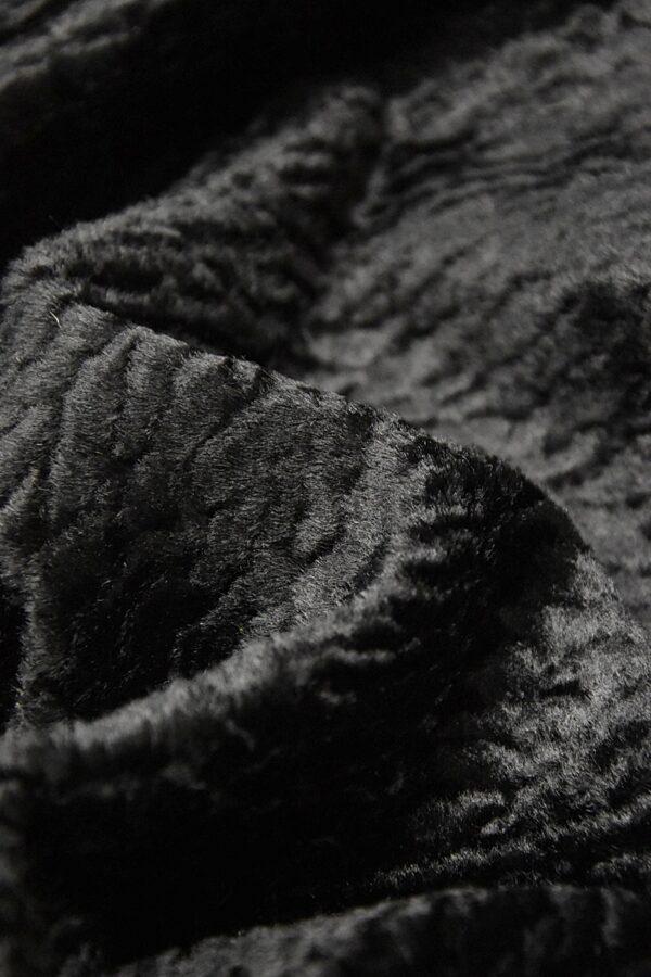 Каракуль искусственный мех черного цвета (4395) - Фото 7