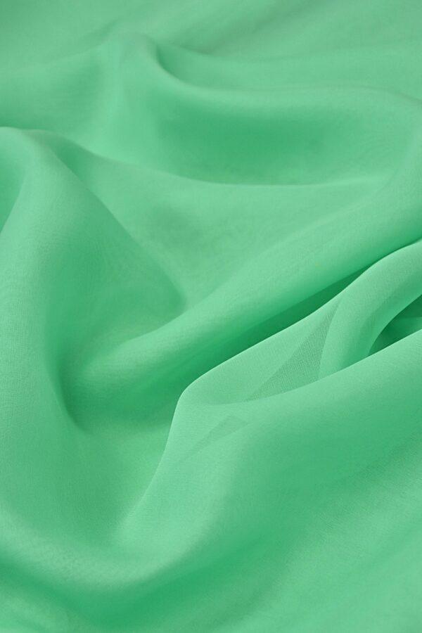 Органза шелк салатовая мята (4420) - Фото 6