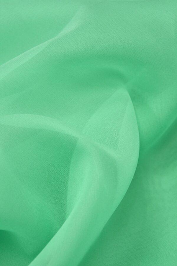 Органза шелк салатовая мята (4420) - Фото 8