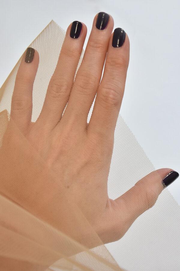Сетка стрейч темный бежевый (4443) - Фото 9
