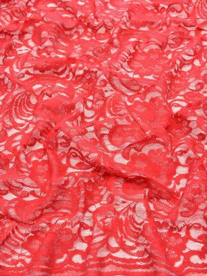 Кружево красное с цветами и фестонами (4609) - Фото 12