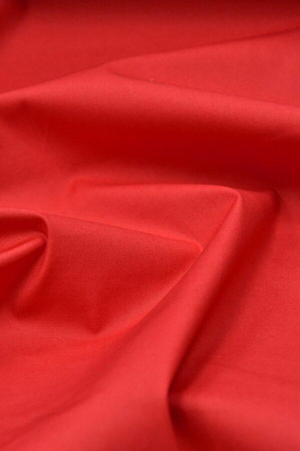 Хлопок стрейч красный (4637) - Фото 6