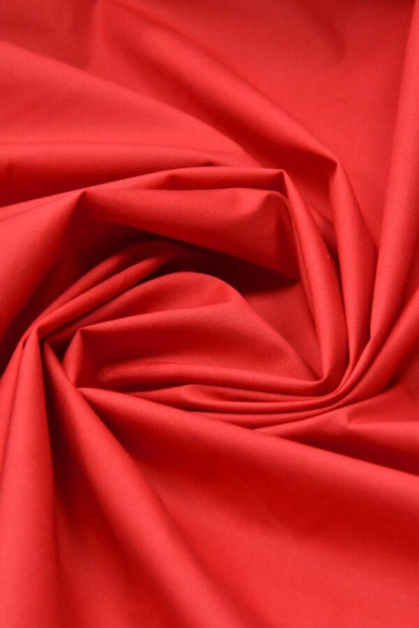Хлопок стрейч красный (4637) - Фото 8
