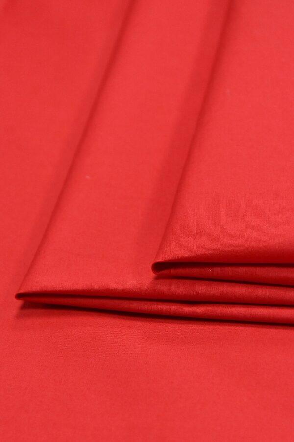 Хлопок стрейч красный (4637) - Фото 7