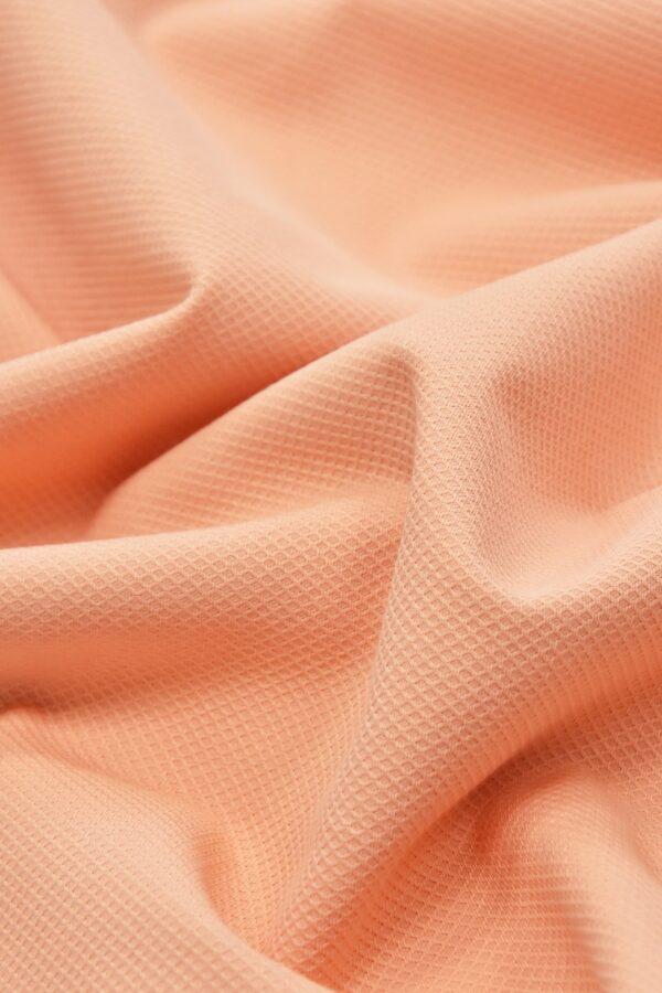 Хлопок пике персиковый (4671) - Фото 6