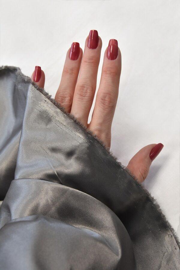Атлас стрейч серый (4697) - Фото 11