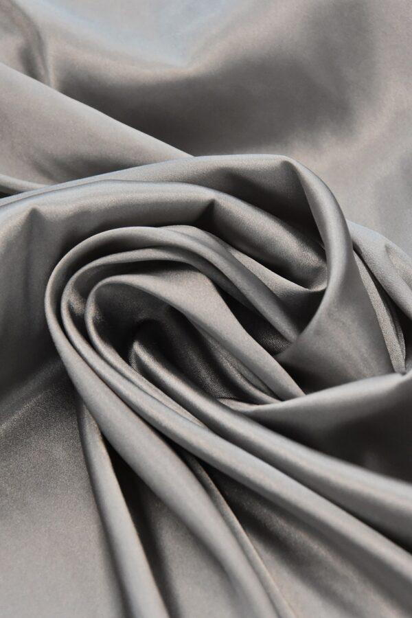 Атлас стрейч серый (4697) - Фото 8