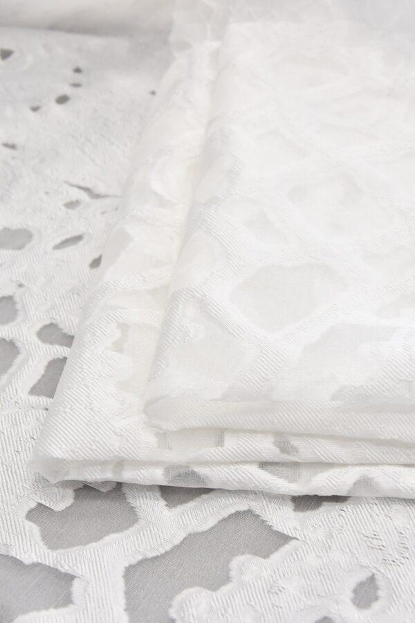 Органза с вышивкой филькупе  с мраморным узором (4766) - Фото 8