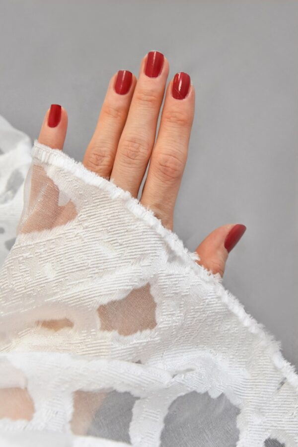 Органза с вышивкой филькупе  с мраморным узором (4766) - Фото 10