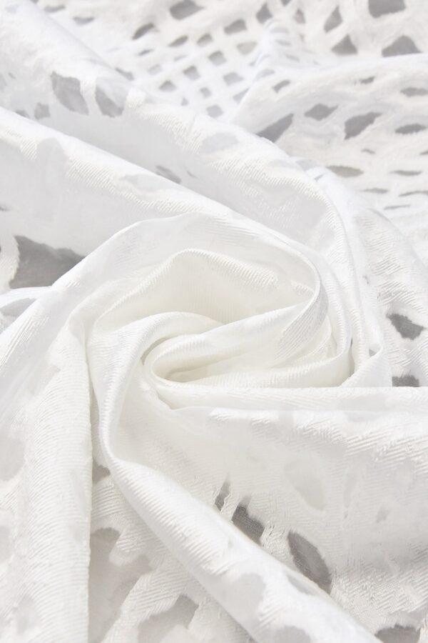 Органза с вышивкой филькупе  с мраморным узором (4766) - Фото 7