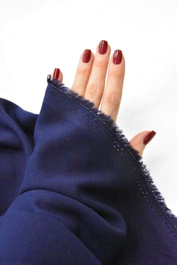 Креп вискоза темно-синий (4845) - Фото 9