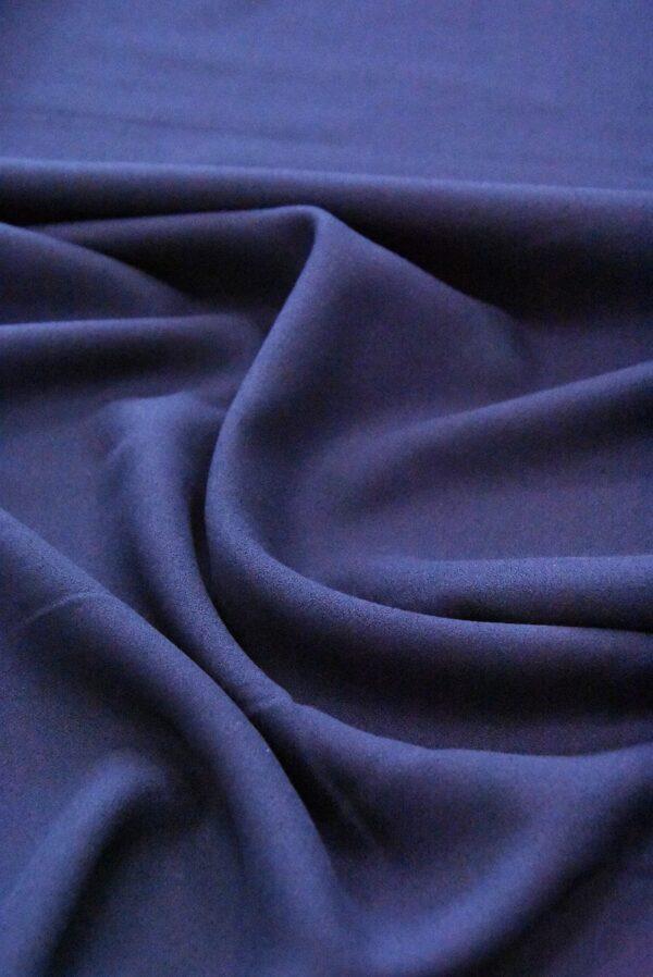 Креп вискоза темно-синий (4845) - Фото 6