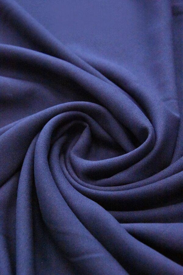 Креп вискоза темно-синий (4845) - Фото 7