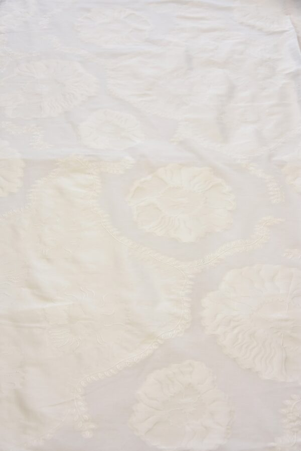 Органза айвори с вышивкой цветы и веточки (5059) - Фото 10