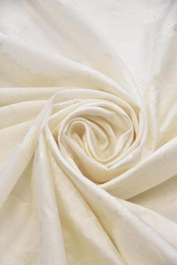 Органза айвори с вышивкой цветы и веточки (5059) - Фото 8