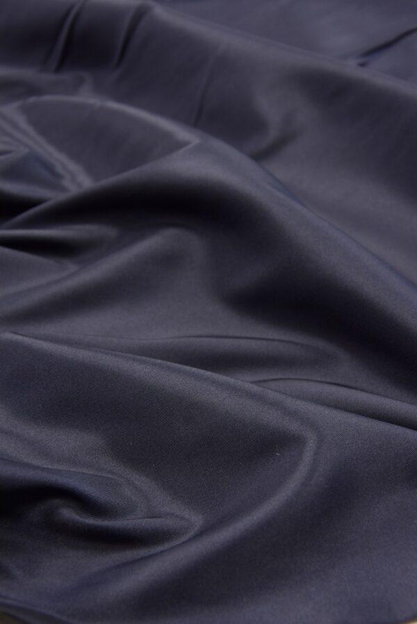Подкладочная вискоза стрейч чернично-синего оттенка (5363) - Фото 6