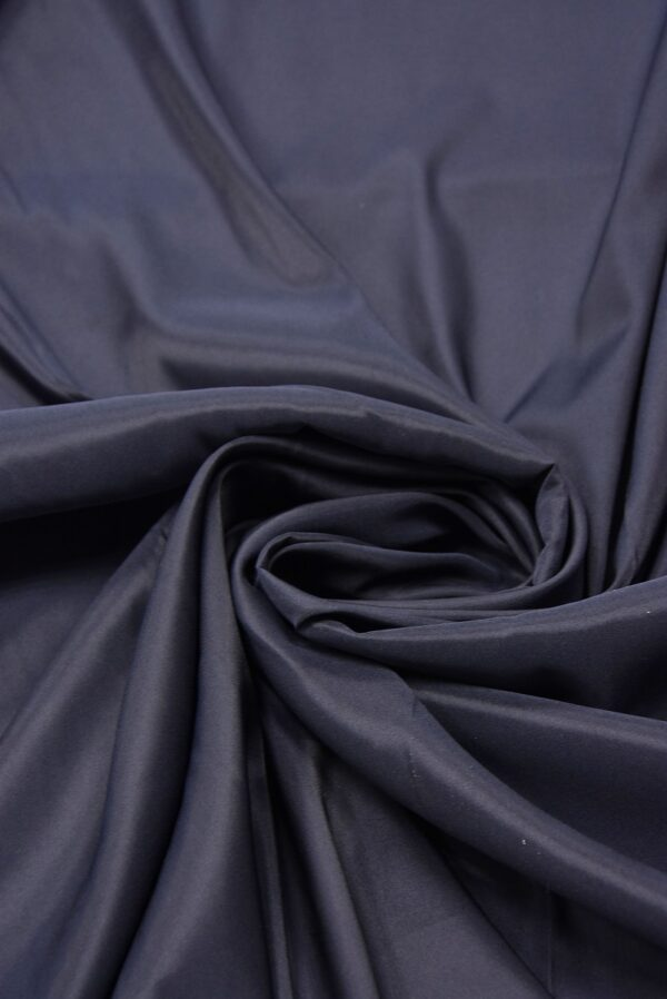 Подкладочная вискоза стрейч чернично-синего оттенка (5363) - Фото 7