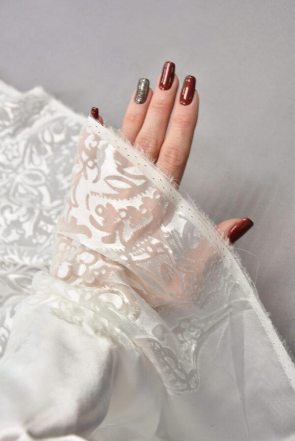 Шелк Деворе молочно-белый с купоном (5426) - Фото 10
