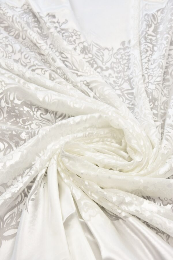 Шелк Деворе молочно-белый с купоном (5426) - Фото 7