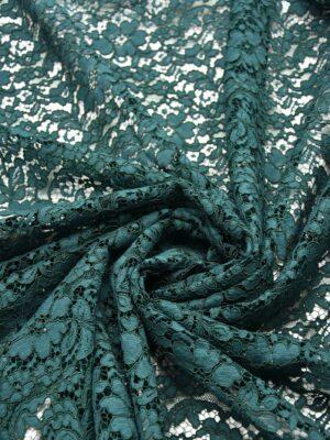 Кружево стрейч зеленое сутажное с цветами (5597) - Фото 17
