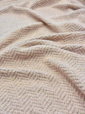 Букле шерсть бледно-розовое в елочку (5618) - Фото 16