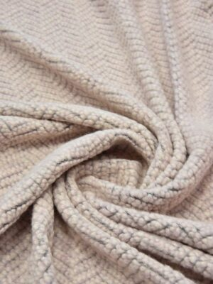 Букле шерсть бледно-розовое в елочку (5618) - Фото 17
