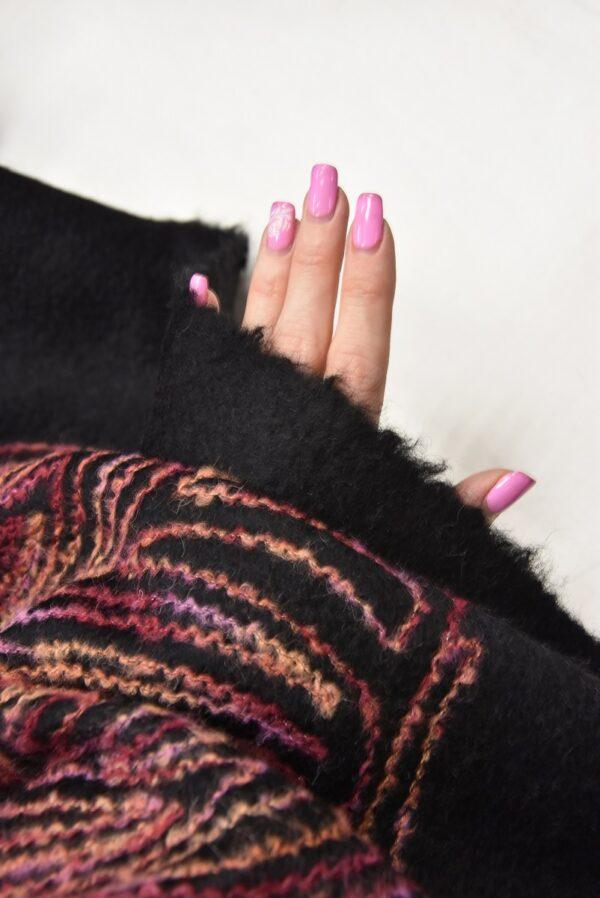 Пальтовая шерсть с разноцветной вышивкой (5704) - Фото 10