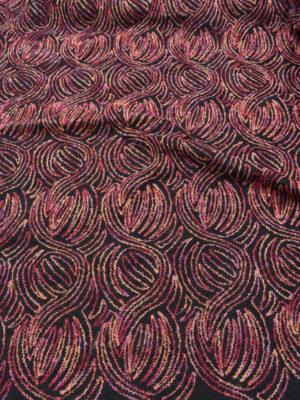Пальтовая шерсть с разноцветной вышивкой (5704) - Фото 21