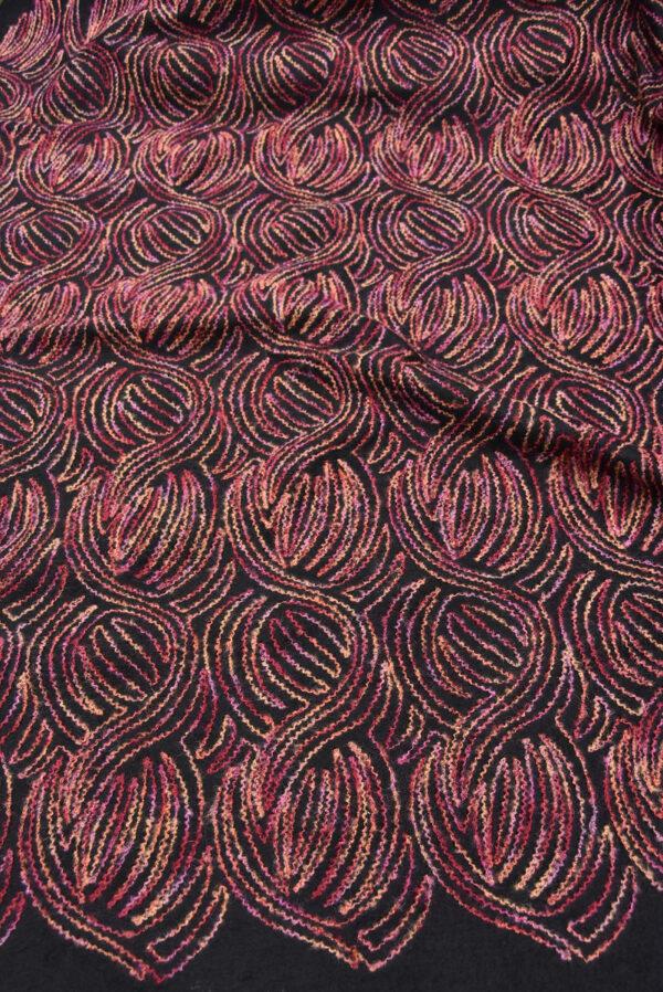 Пальтовая шерсть с разноцветной вышивкой (5704) - Фото 6