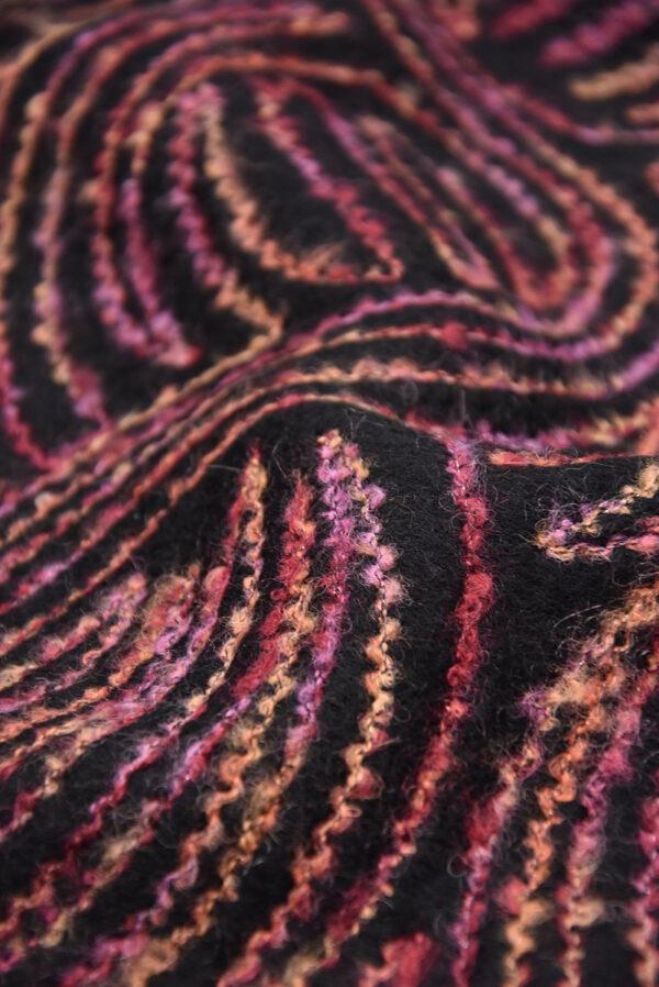 Пальтовая шерсть с разноцветной вышивкой (5704) - Фото 7