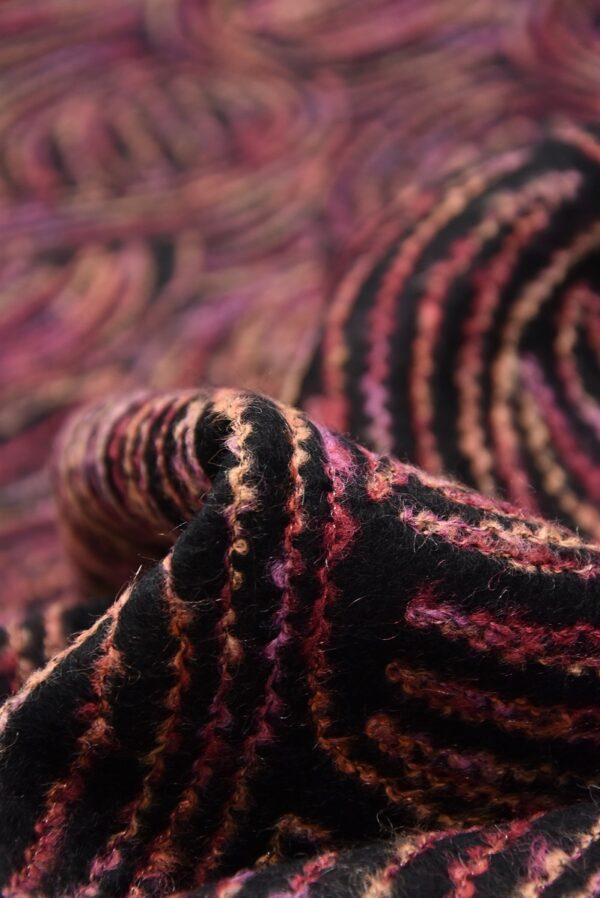 Пальтовая шерсть с разноцветной вышивкой (5704) - Фото 9