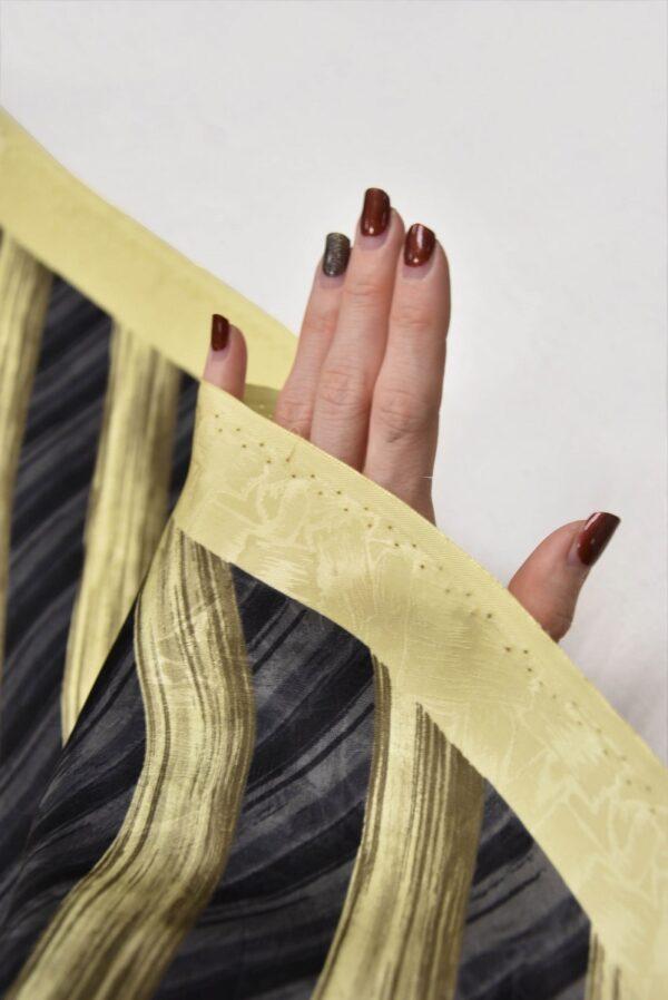 Шелк галстучный серый в диагональную полоску (5769) - Фото 10