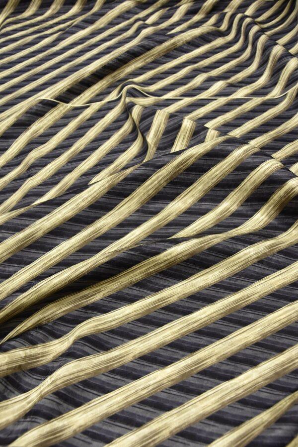 Шелк галстучный серый в диагональную полоску (5769) - Фото 6