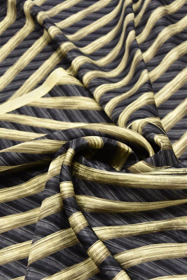 Шелк галстучный серый в диагональную полоску (5769) - Фото 7