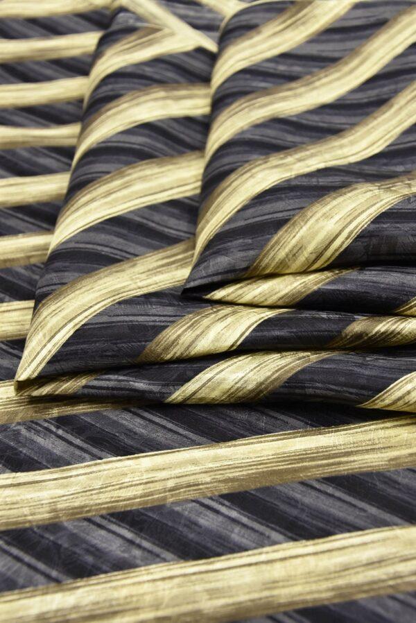Шелк галстучный серый в диагональную полоску (5769) - Фото 8