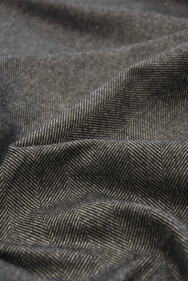 Твид костюмный серо-коричневый в крупную елочку (5782) - Фото 9